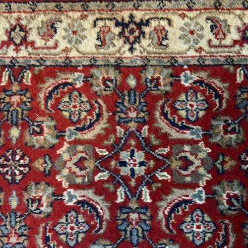 Stunning Hand Knotted Indo-Persian Runner In Herati Design image-6