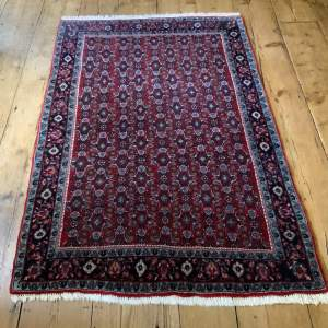 Old Hand Knotted Persian Rug Bidjar Superb Quality Piece