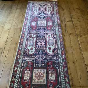 Superb Old Hand Knotted Persian Runner Serab