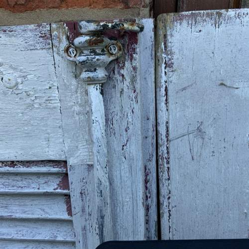 Original Old Pair of French Window Shutters with Locking Bar image-3