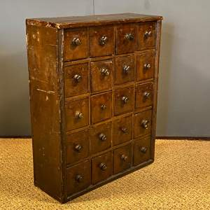 19th Century Set of Collectors Drawers