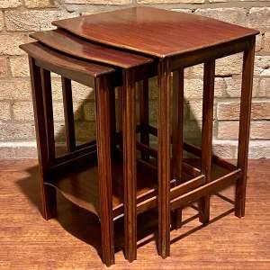 Waring and Gillows Mahogany Nest of Tables