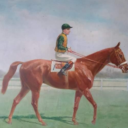 Eugene Pechaubes Oil on Canvas Painting of The Jockey image-3
