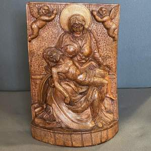 Wooden Carved Religious Plaque