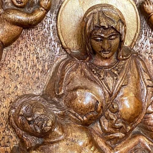 Wooden Carved Religious Plaque image-2