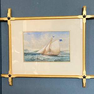 Original Watercolour Painting of a Yacht