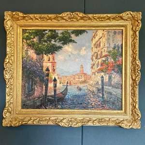 Beautiful Original Oil Painting of Venice
