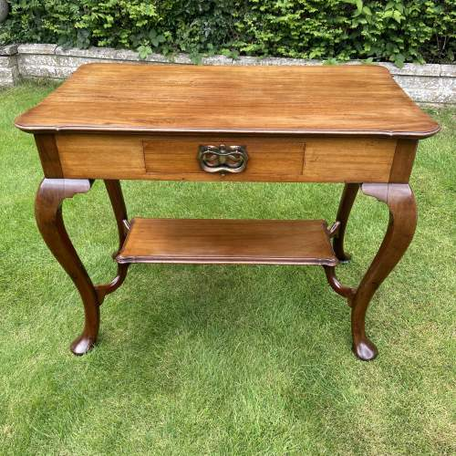 Victorian Mahogany Two Tier Table with Drawer image-2