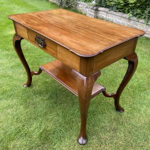 Victorian Mahogany Two Tier Table with Drawer