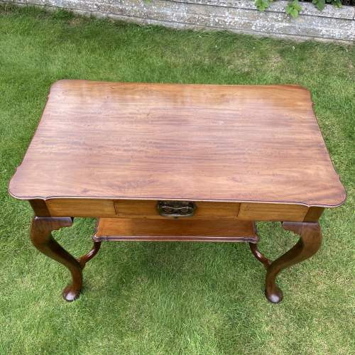 Victorian Mahogany Two Tier Table with Drawer image-3