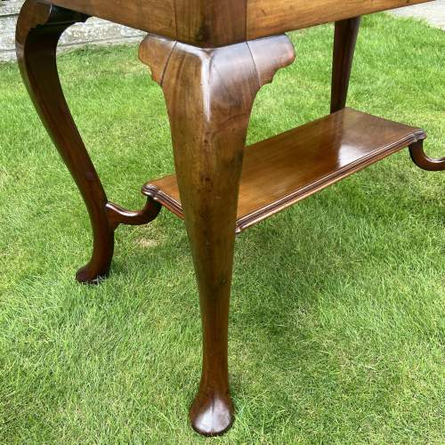 Victorian Mahogany Two Tier Table with Drawer image-4