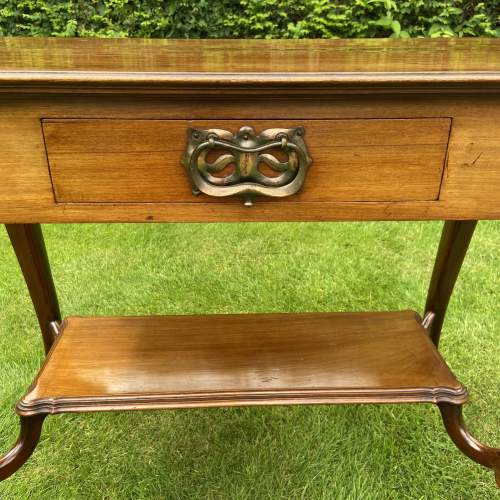 Victorian Mahogany Two Tier Table with Drawer image-5