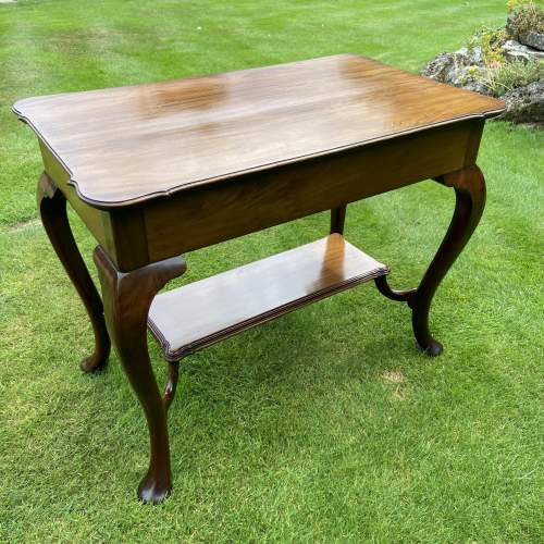 Victorian Mahogany Two Tier Table with Drawer image-6