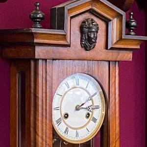 Victorian Walnut and Ebony Wall Clock