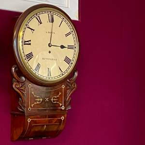 Victorian Mahogany Fusee Drop Dial Wall Clock