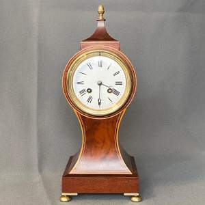 Edwardian Mahogany French Balloon Clock