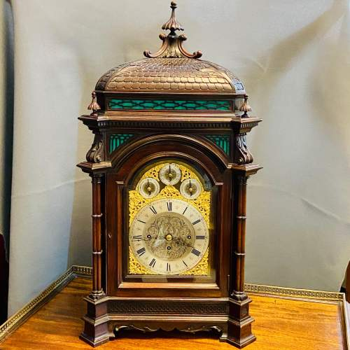 19th Century Chinese Chippendale Boardroom Clock image-1