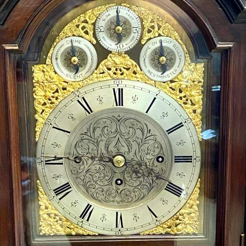 19th Century Chinese Chippendale Boardroom Clock image-4