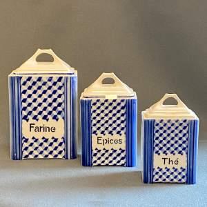 20th Century Ditmar Urbach Set of Ceramic Storage Jars