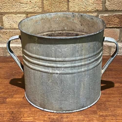 Vintage Galvanised Planter image-2