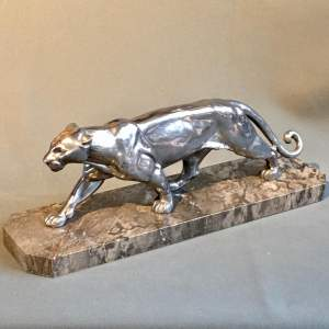 Large Art Deco Panther Figure