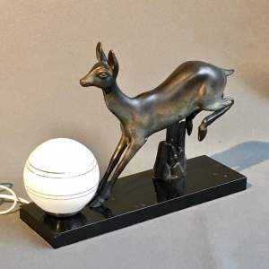 Rochard Art Deco Deer Lamp
