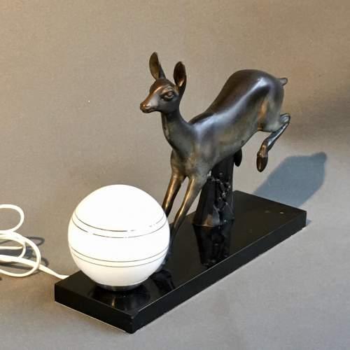 Rochard Art Deco Deer Lamp image-2