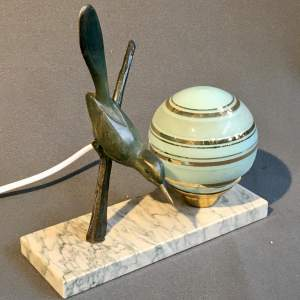 Art Deco Bronze Bird Desk Lamp
