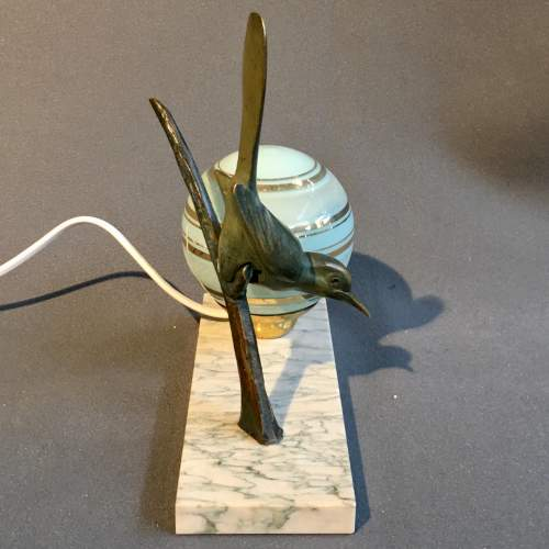 Art Deco Bronze Bird Desk Lamp image-3