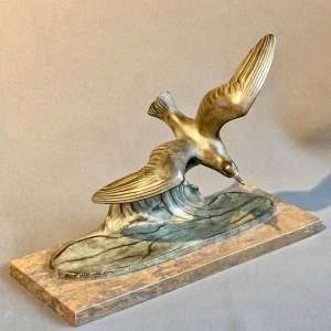 20th Century Art Deco Seagull Figure