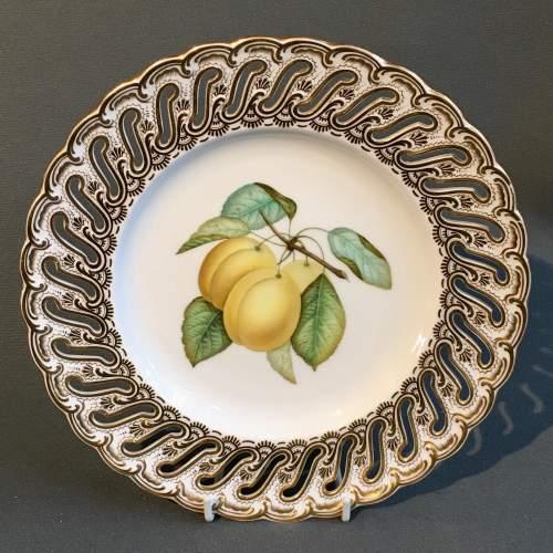 19th Century Coalport Fruit Plate image-1