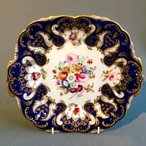 19th Century Floral Coalport Plate