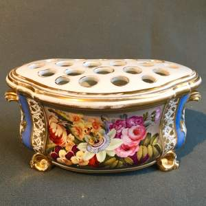 19th Century Derby Bough Pot