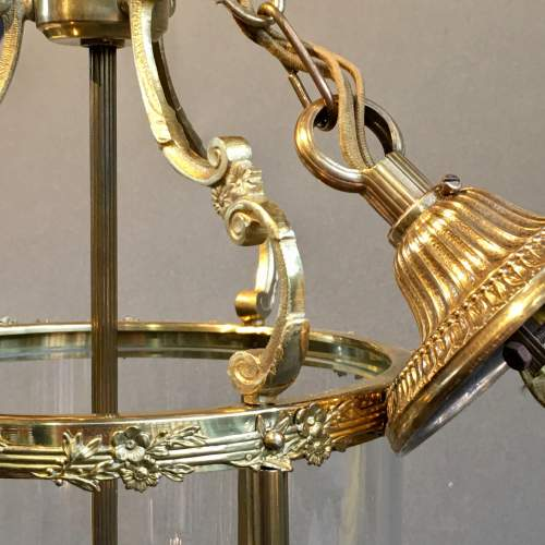 Brass Framed Glass Lantern Light image-2