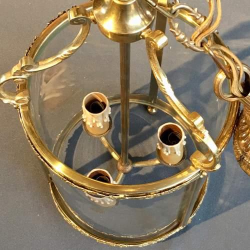 Brass Framed Glass Lantern Light image-3