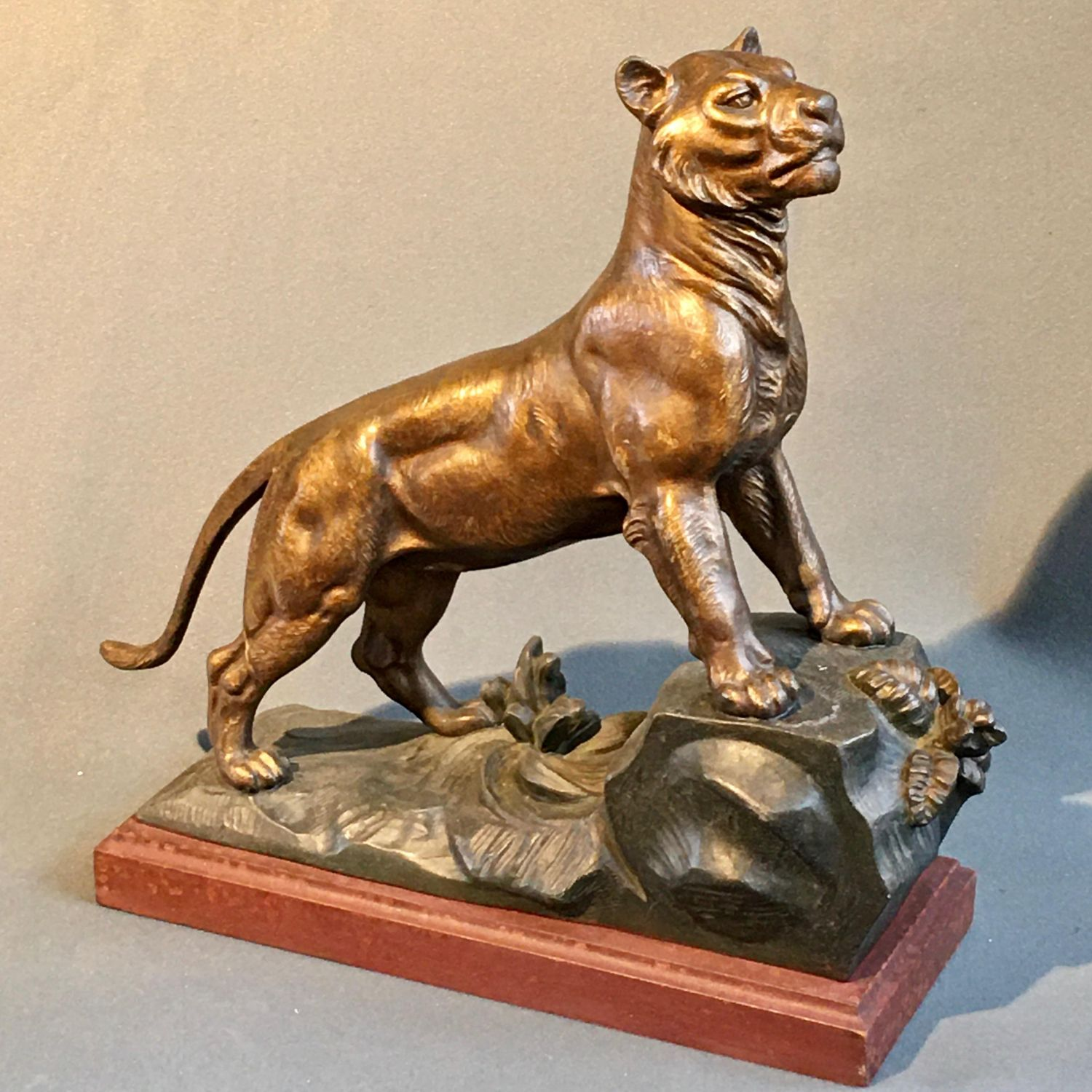 Art Deco Figure Of A Tiger Metalware Hemswell Antique Centres