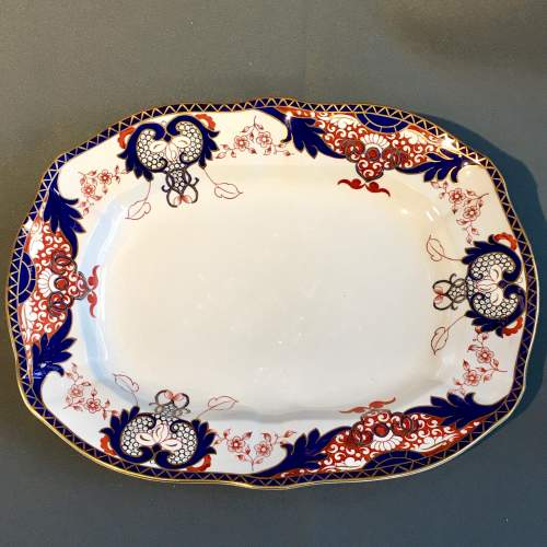 19th Century Large Crown Derby Meat Platter image-1