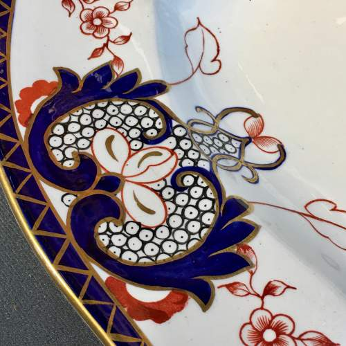 19th Century Large Crown Derby Meat Platter image-3