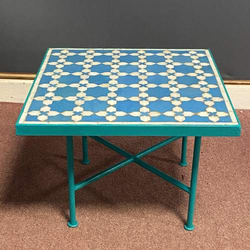 Continental Tiled Top Garden Coffee Table image-1