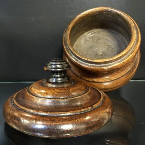 Victorian Oak Tobacco Jar image-3