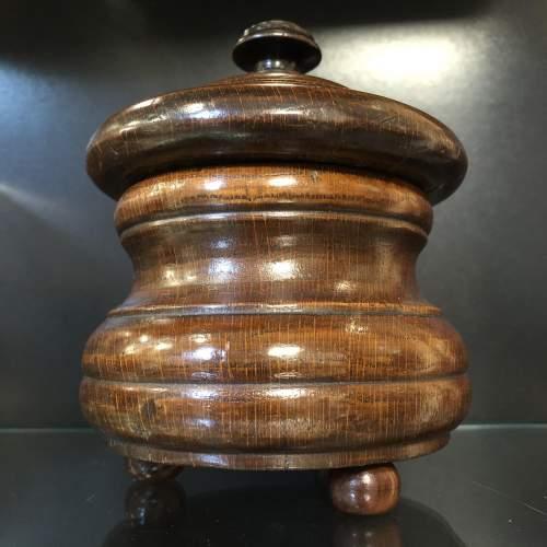 Victorian Oak Tobacco Jar image-5