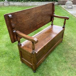 Oak Settle Monks Bench