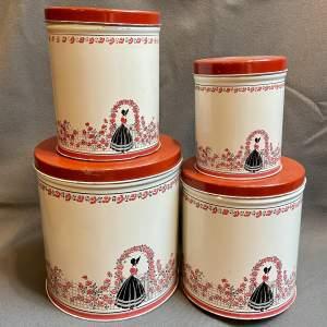 Vintage Set of Four American Storage Tins