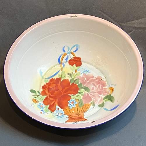 1930s Vintage French Enamel Bowl image-1