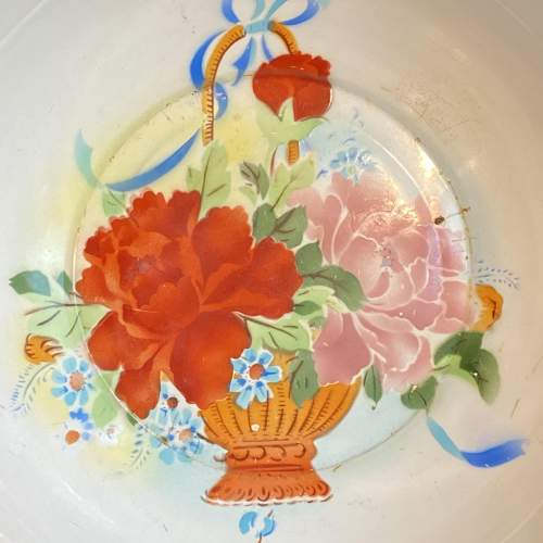 1930s Vintage French Enamel Bowl image-2