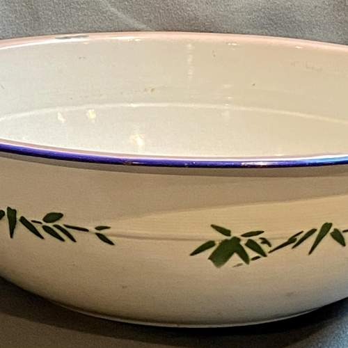 1930s Vintage French Enamel Bowl image-3
