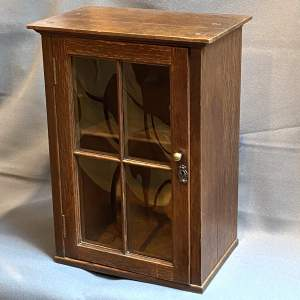 Arts and Crafts Oak Table Top Display Cabinet