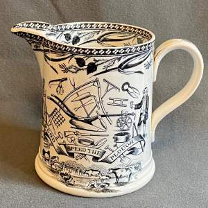 19th Century Farmers Arms Jug