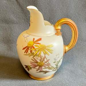 Victorian Royal Worcester Hand Painted Jug