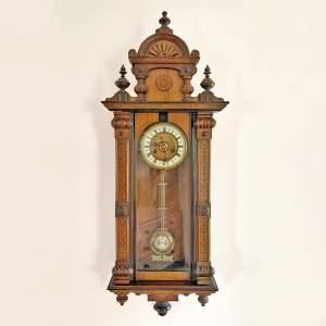 Victorian 8-Day Vienna Wall Clock